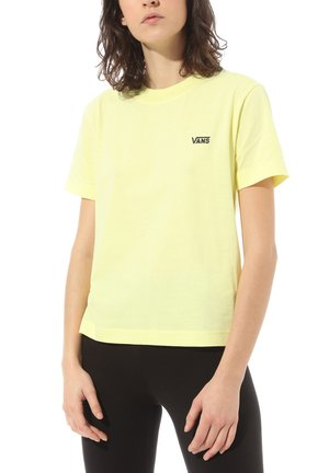 WM JUNIOR V BOXY - Basic T-shirt - yellow pear