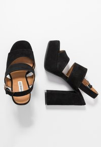 Even&Odd Wide Fit - LEATHER  - High heeled sandals - black - 3