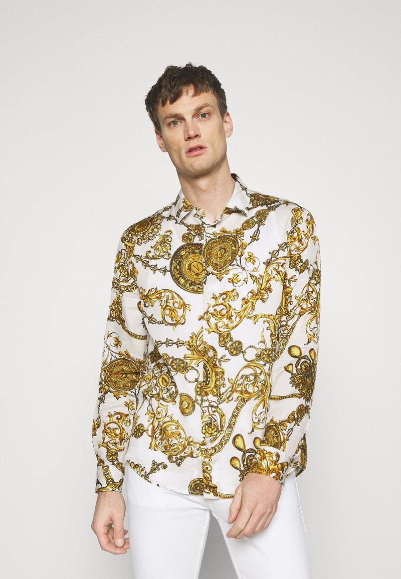 Versace Jeans Couture - PRINT REGALIA BAROQUE - Košile - bianco/gold