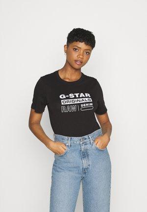 ORIGINALS LABEL REGULAR - T-shirt print - dk black