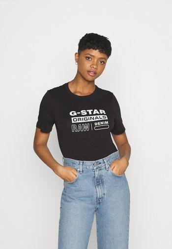 ORIGINALS LABEL REGULAR - Print T-shirt - dk black