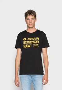 G-Star - GRAPHIC LOGO - T-shirt con stampa - dark black - 0