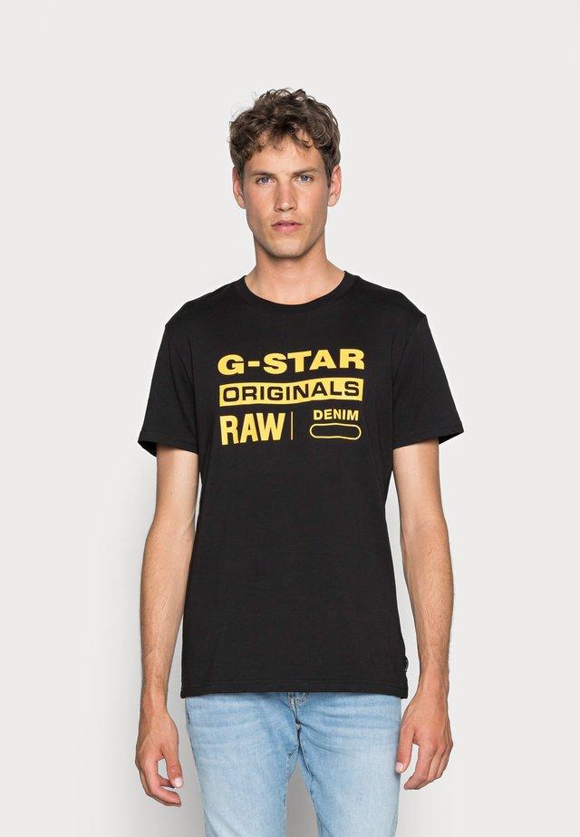 GRAPHIC LOGO - T-shirt imprimé - dark black