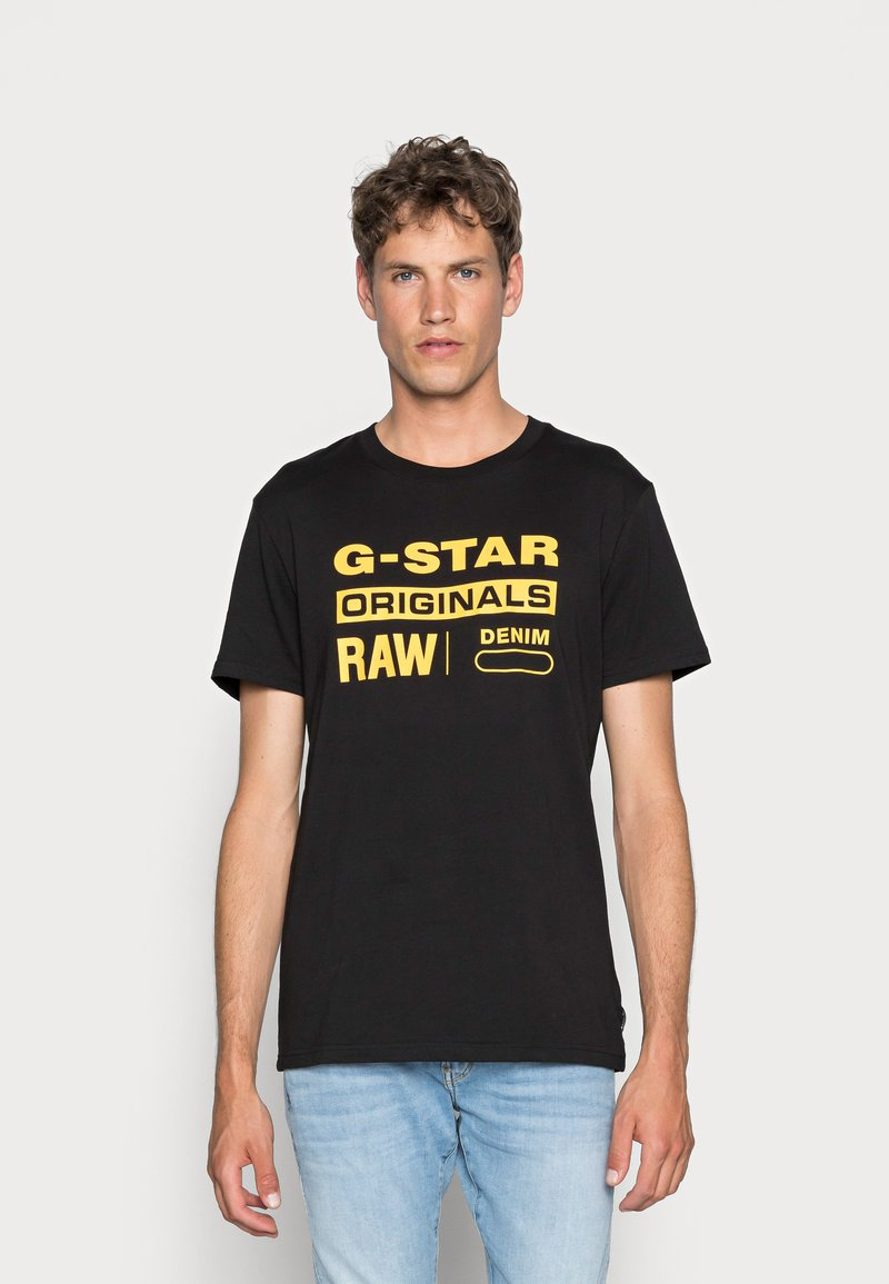 G-Star - GRAPHIC LOGO - T-shirt con stampa - dark black