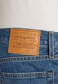 Levi's® - 511™ SLIM - Slim fit jeans - med indigo/flat finish - 3