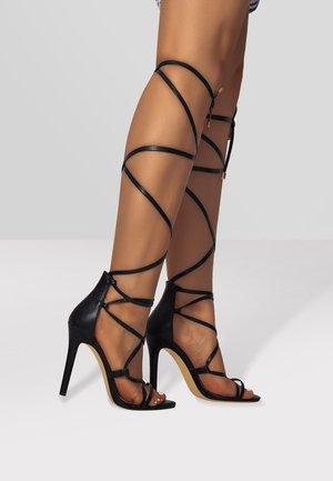 GLADIATOR - High heeled sandals - black