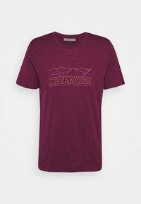 Icebreaker - TECH LITE CREWE STORY - T-shirt print - brazilwood - 0