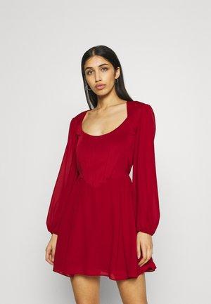 ALIVIA DRESS - Day dress - burgundy