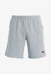 LIGA CASUALS - Sports shorts - medium gray heather/black