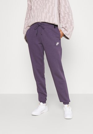 Tracksuit bottoms - dark raisin/white