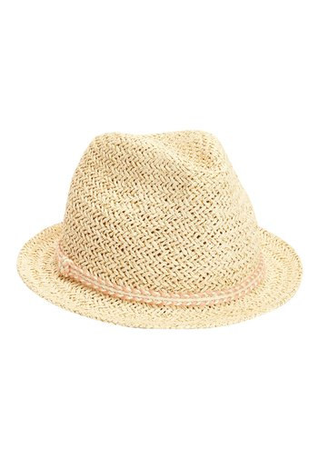 PINK TRIM STRAW TRILBY (YOUNGER)