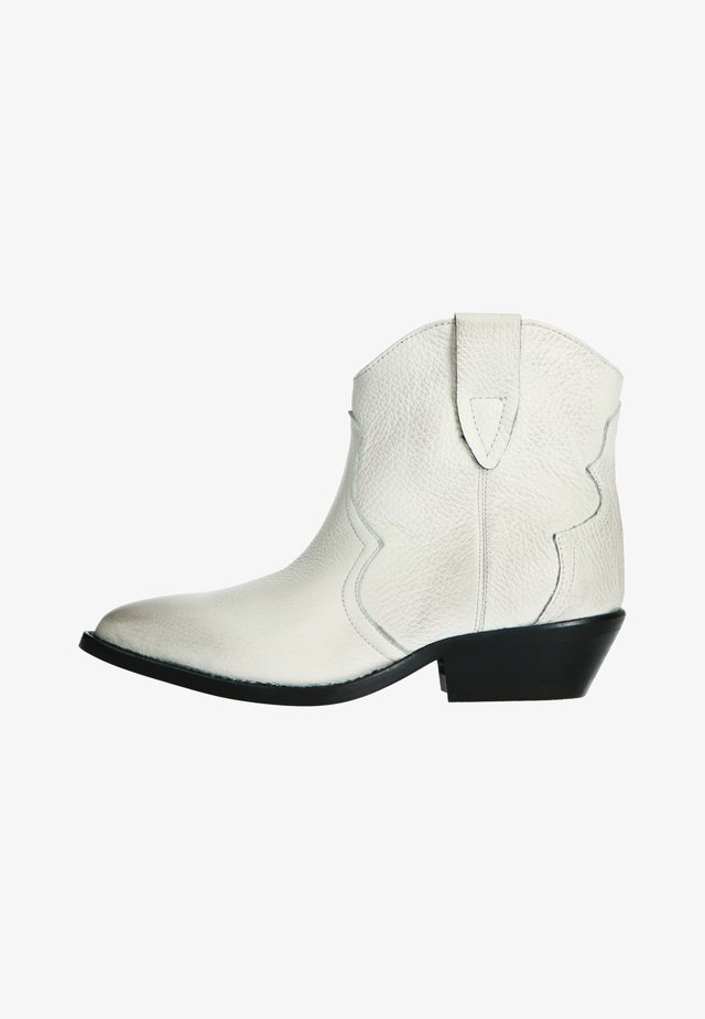 WESTERN  - Cowboy/biker ankle boot - off-white