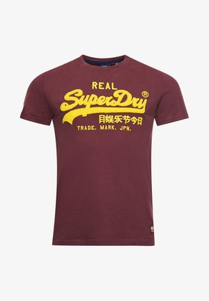 Print T-shirt - deep port