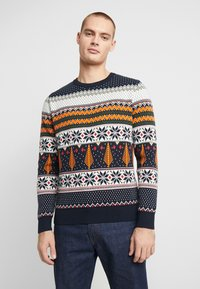 Knowledge Cotton Apparel - ONECK XMAS - Jumper - total eclipse - 0
