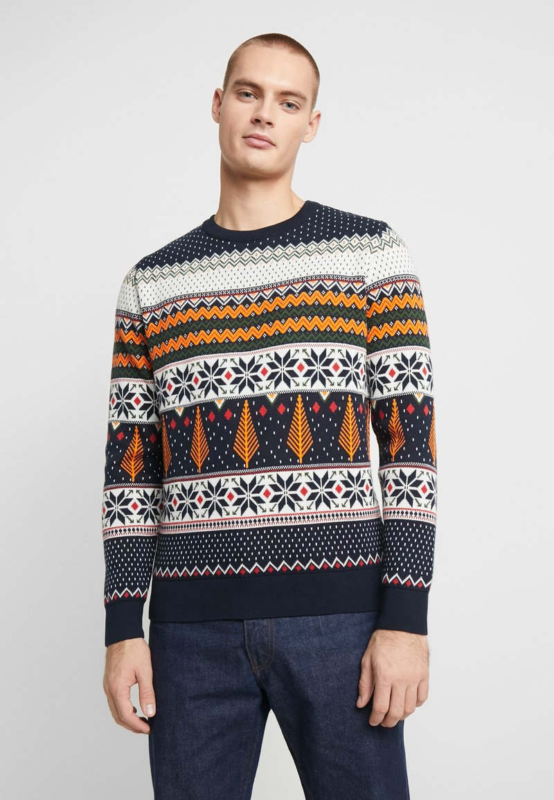Knowledge Cotton Apparel - ONECK XMAS - Jumper - total eclipse