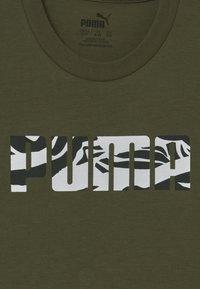 Puma - PUMA X ZALANDO GIRLS TEE - T-shirt print - olive night - 3