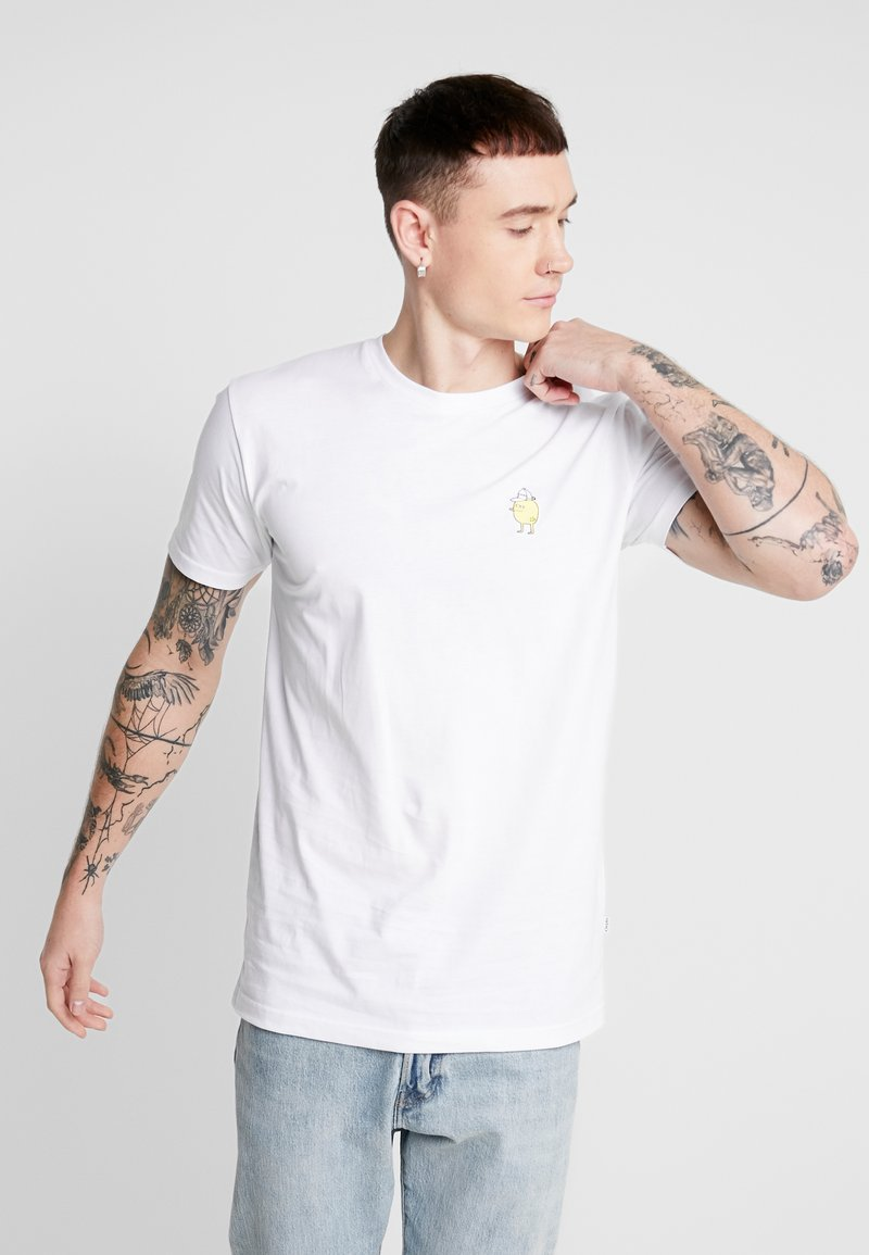 Cleptomanicx - ZITRONE - Print T-shirt - white