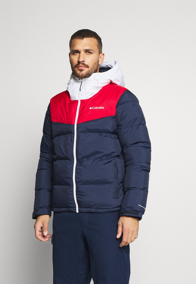 Columbia - ICELINE RIDGE JACKET - Kurtka narciarska - collegiate navy/mountain red/white
