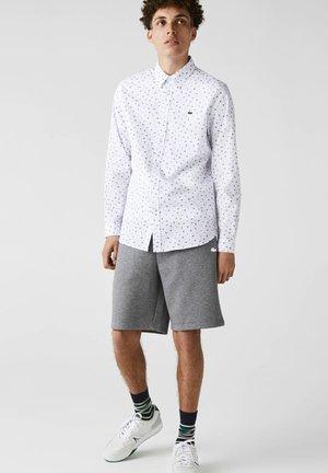 Shirt - weiß  navy blau