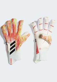 adidas Performance - PREDATOR 20 PRO FINGERSAVE GOALKEEPER GLOVES - Goalkeeping gloves - white - 4