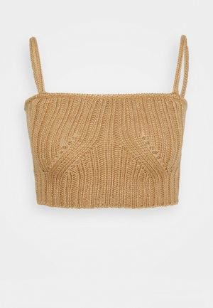 HENRY BRALET - Top - cream/camel