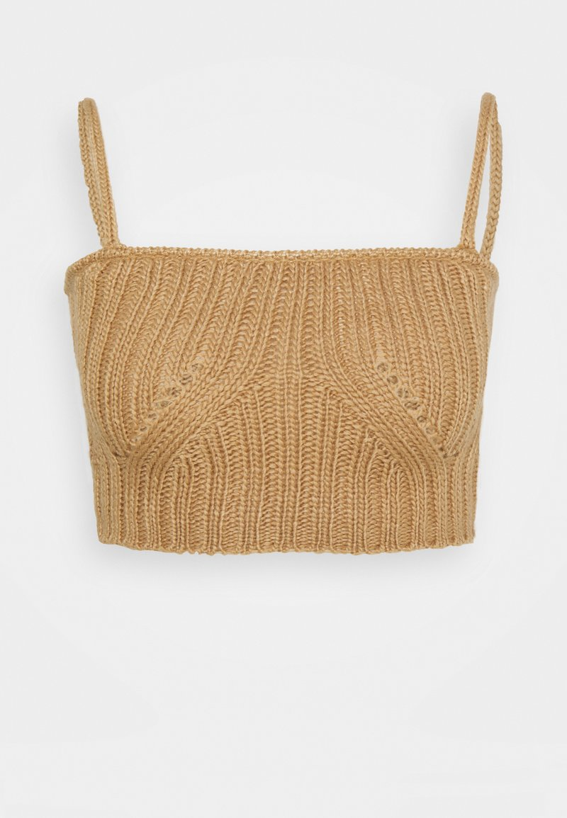 4th & Reckless - HENRY BRALET - Top - cream/camel