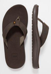 Teva - VOYA FLIP MENS - Sandály s odděleným palcem - chocolate brown - 1