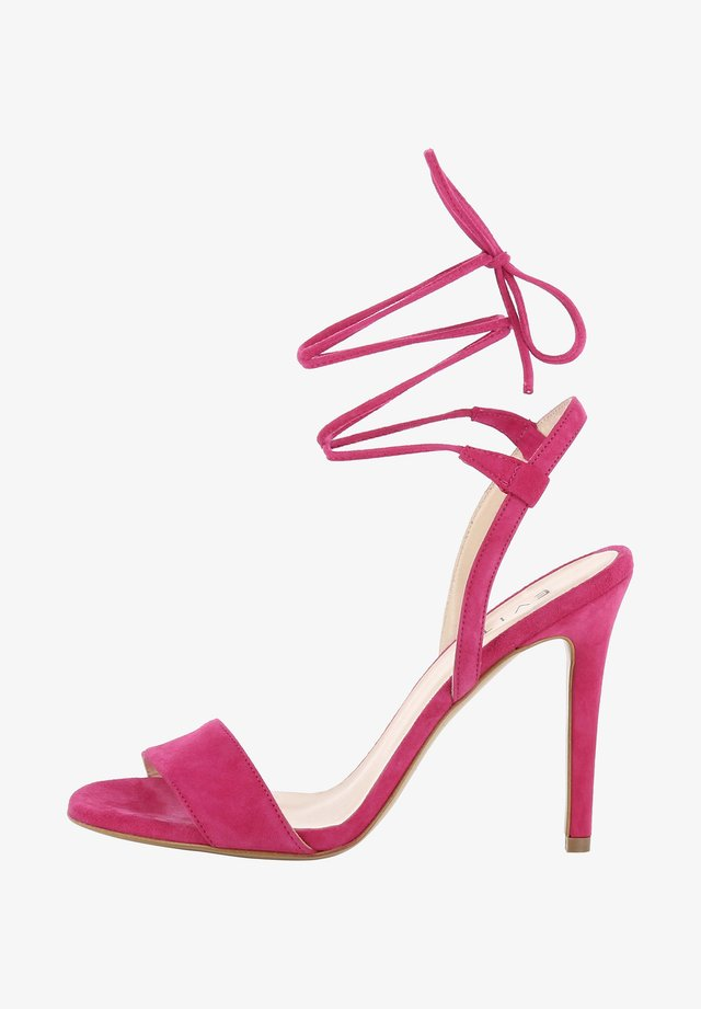 High heeled sandals - fuchsia