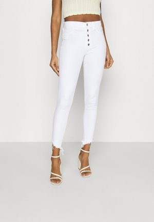 SUPER HI-RISE CROP - Jeans Skinny Fit - fresh white