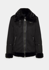 ONLY - ONLJANICE BONDED AVIATOR  - Faux leather jacket - black - 5