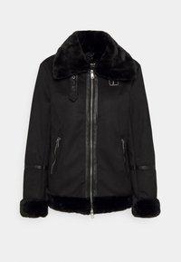 ONLJANICE BONDED AVIATOR  - Faux leather jacket - black