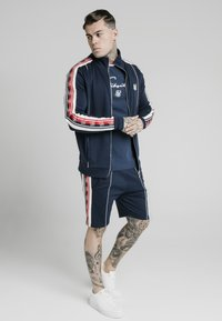 SIKSILK - RETRO FUNNEL NECK TAPEZIP THROUGH TRACK TOP - Cardigan - navy - 1