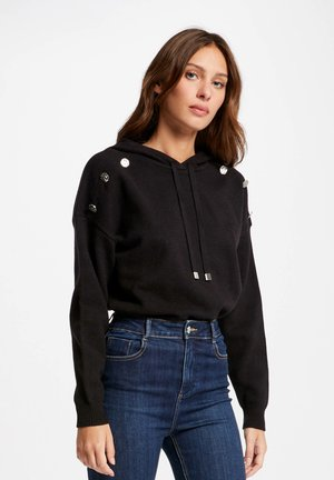 WITH HOOD - Jersey con capucha - black