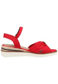 TOM TAILOR - Wedge sandals - red - 5