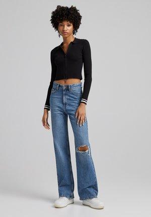 90s WIDE LEG - Flared Jeans - dark blue