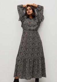 Violeta by Mango - FLOWER - Maxi dress - schwarz - 0