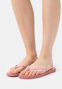 Tory Burch - SQUARE TOE  - T-bar sandals - pink - 0