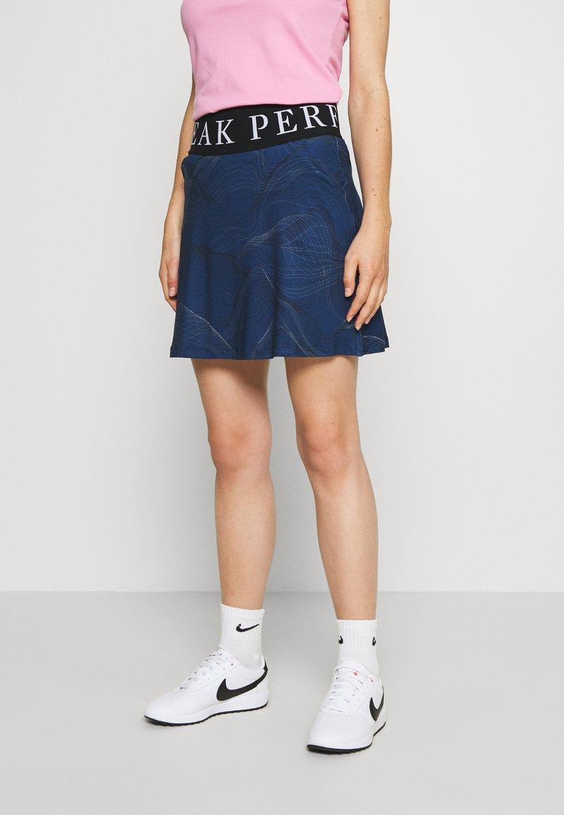 Peak Performance - TURF SKIRT PRINT - Sportovní sukně - blue