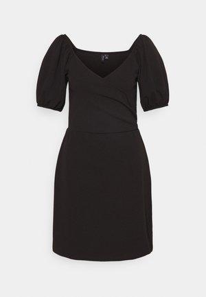 VMJASMINE WRAP SHORT DRESS - Jersey dress - black
