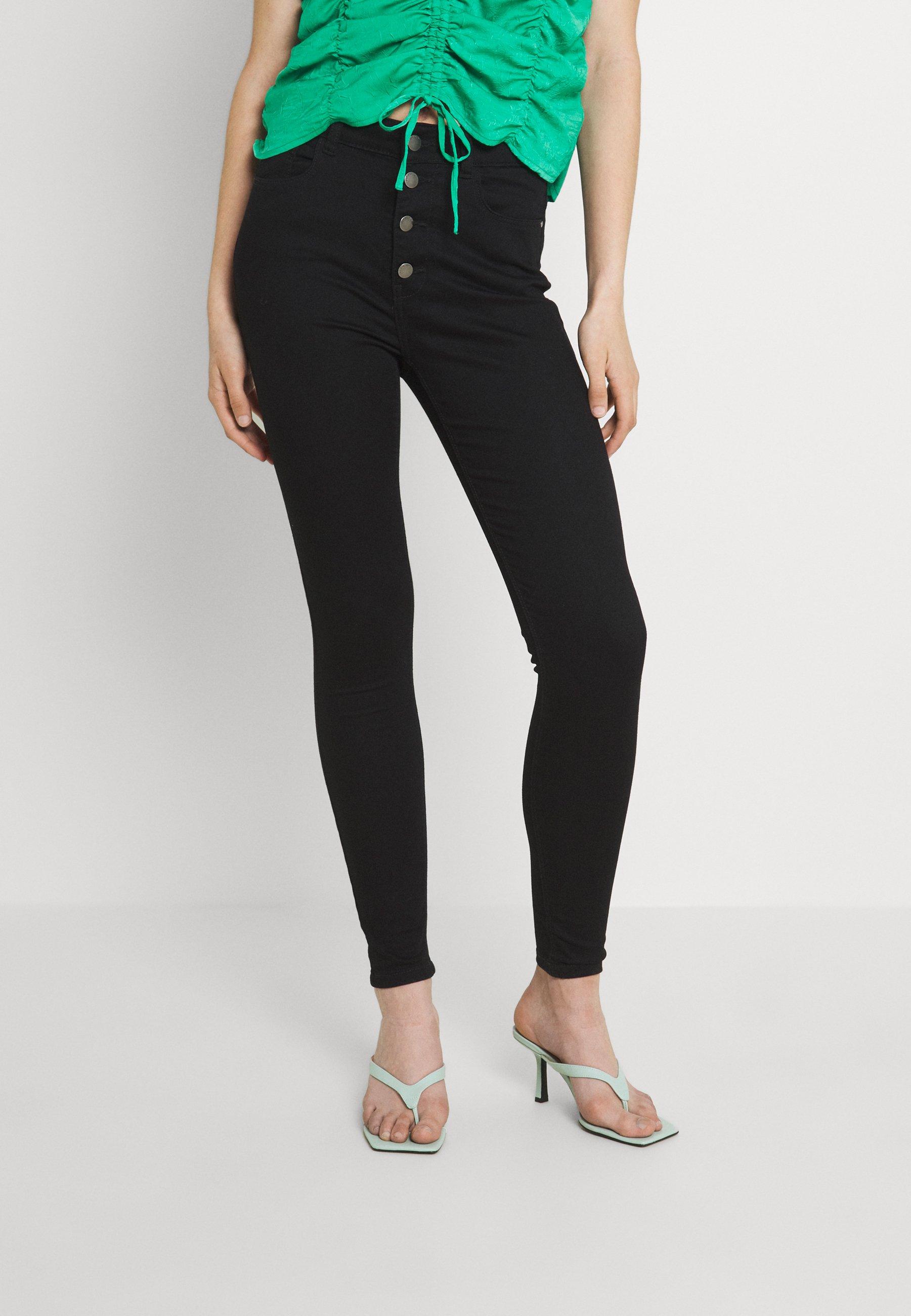 Damen JDYNEWNIKKI LIFE BUTTON - Jeans Skinny Fit