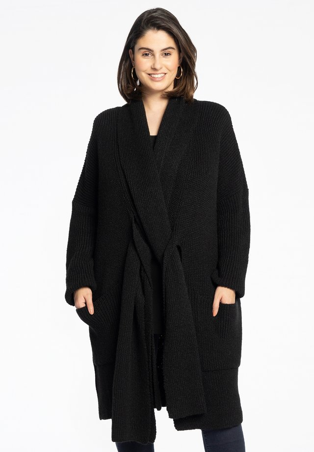 WITH LONG SLEEVES - Vest - black