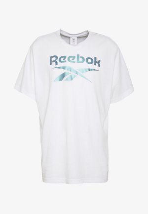 STACKED TEE - T-Shirt print - white/silver