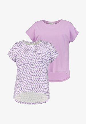 2 PACK - Print T-shirt - lilas