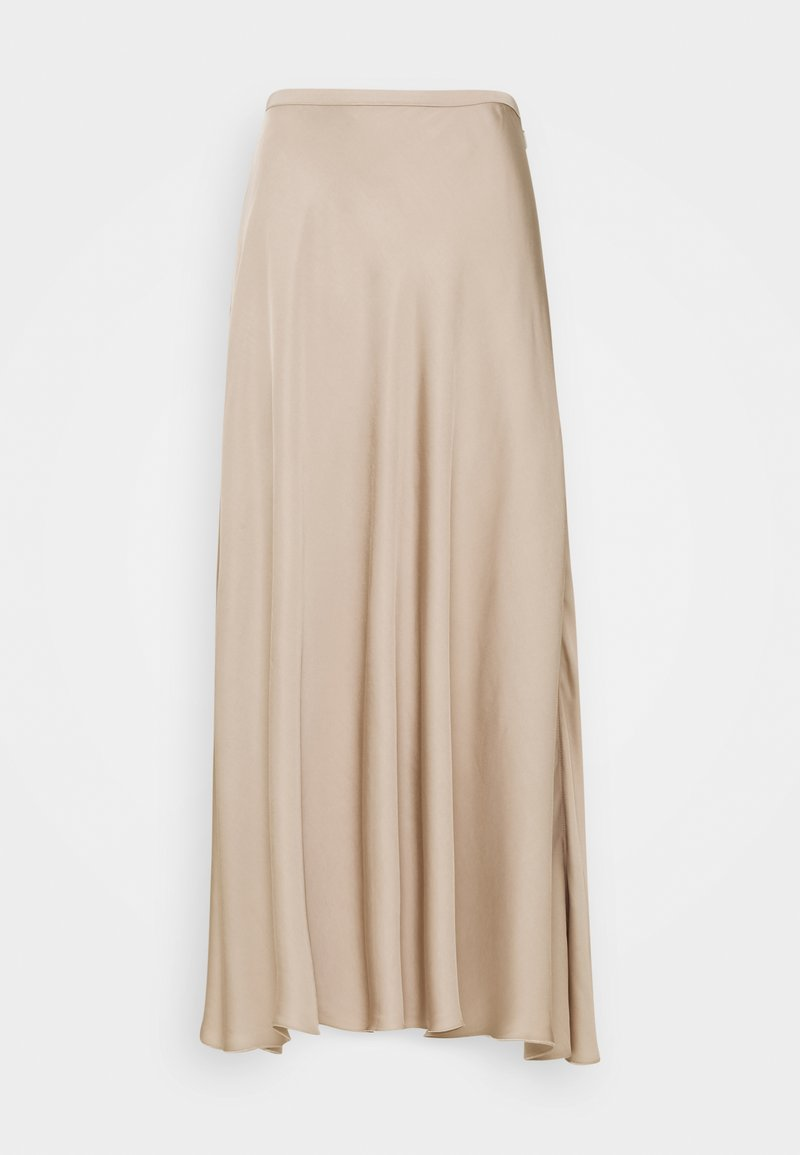 Marc O'Polo PURE - BIAS CUT SKIRT MIDI LENGHT FLOWY - A-snit nederdel/ A-formede nederdele - latte macchiato