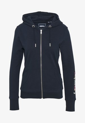 SLEEVE ZIP HOOD - Zip-up hoodie - deep navy