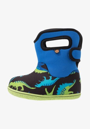 BABY CLASSIC DINO - Winter boots - electric blue/multicolor