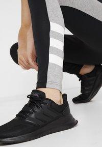adidas Performance - SID - Legginsy - black/medium grey heather - 3