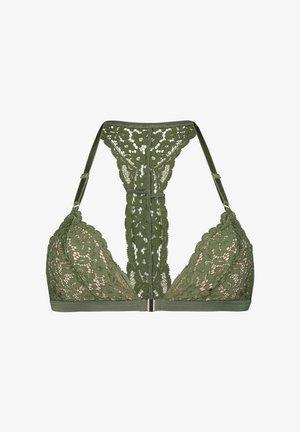 Triangle bra - green
