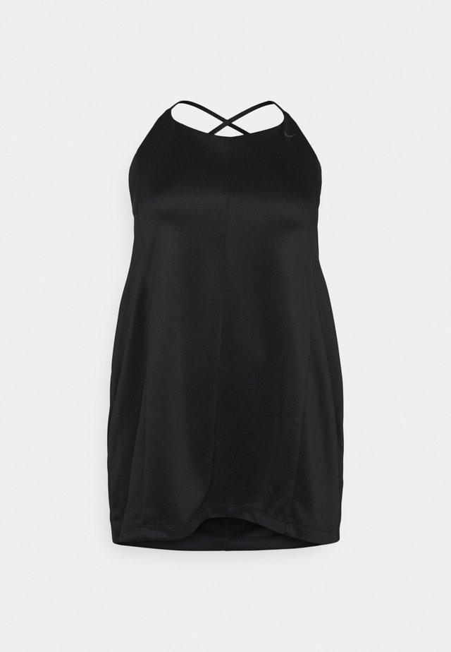 DRESS - Korte jurk - black/smoke grey