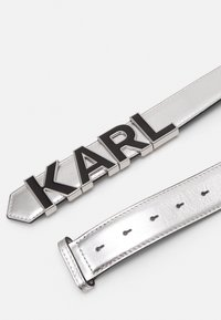 KARL LAGERFELD - LETTERS BELT - Pásek - silver-coloured